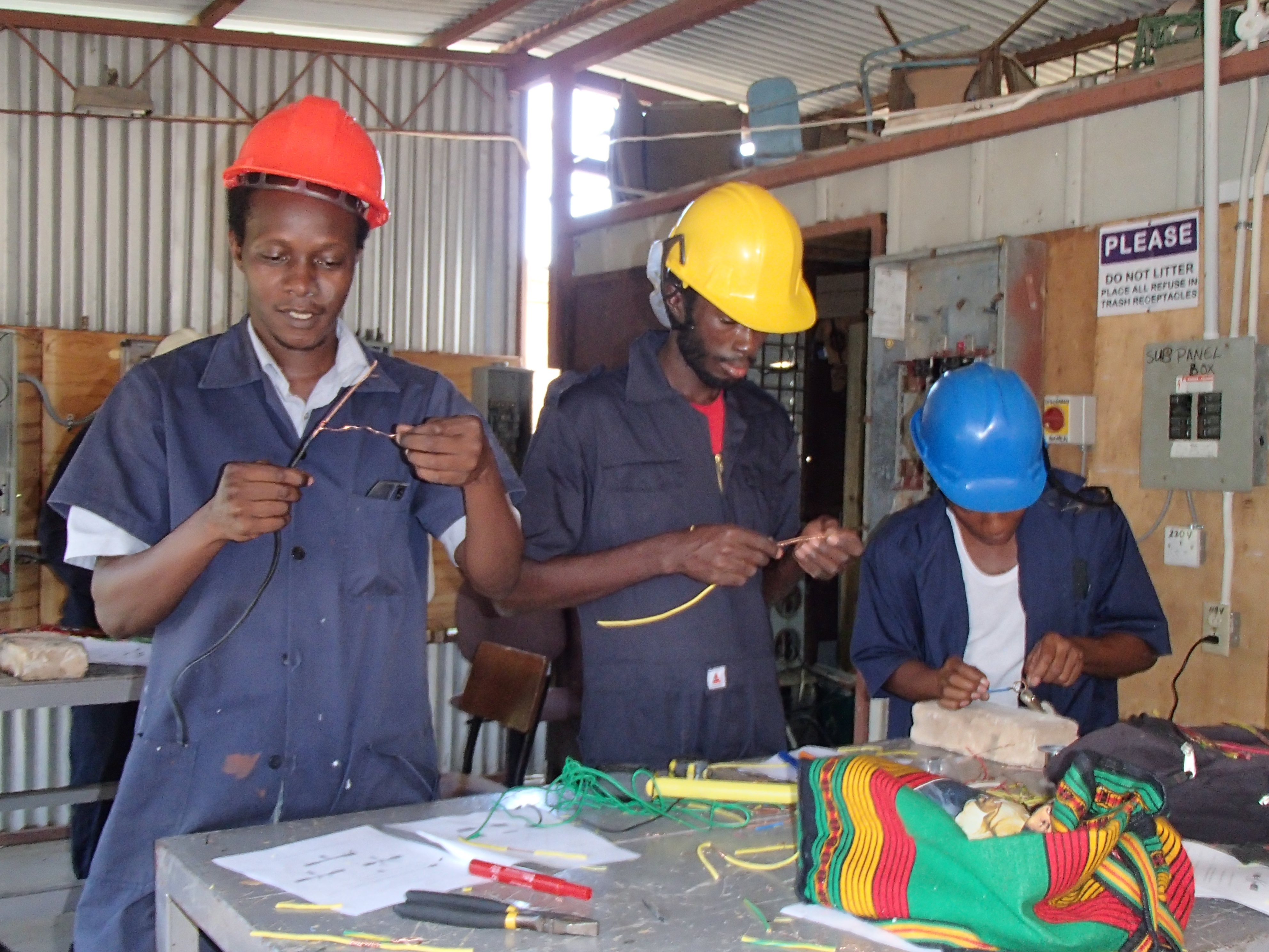 Jamaica Electrical trainees